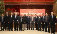 Bí thư Thành ủy Hà Nội Vương Đình Huệ, Chủ tịch UBND thành phố Chu Ngọc Anh và các đại biểu lãnh đạo thành phố Hà Nội các thời kỳ