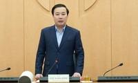 Phó Chủ tịch UBND thành phố Hà Nội Chử Xuân Dũng phát biểu tại cuộc họp