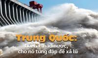 Trung Quốc: Hối hả tháo nước, cho nổ tung đê để xả lũ