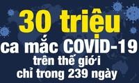 Thế giới ghi nhận 30 triệu ca mắc COVID-19 trong 239 ngày