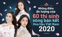 Ấn tượng 60 thí sinh vòng Bán kết Hoa hậu Việt Nam 2020