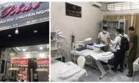 """Cơ sở phẫu thuật thẩm mỹ không phép núp bóng dưới dạng """"dịch vụ cắt tóc, uốn tóc, gội đầu"""" trên địa bàn quận Bình Thạnh (ảnh: Sở Y tế TP)"""