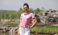 Hoa hậu Việt Nam 2018 Trần Tiểu Vy là gương mặt đại diện giải Tiền Phong Golf Championship 2018. Ảnh: Hồng Vĩnh