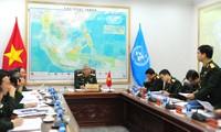 Thượng tướng Nguyễn Chí Vịnh chủ trì cuộc họp. Ảnh: Xuân Tùng