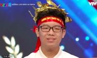 Nguyễn Minh Tuân (THPT Thạch Thất, Hà Nội) giành chiến thắng vòng thi tuần.