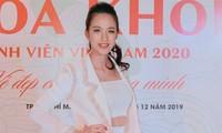 Tuyết Trang là một trong những giám khảo vòng sơ loại Hoa khôi Sinh viên Việt Nam 2020. Ảnh: BTC