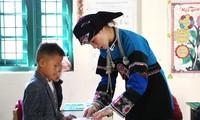 Cô giáo Lồ Thị Lan là một trong những giáo viên dân tộc thiểu số được tuyên dương trong chương trình Chia sẻ cùng thầy cô 2020. Ảnh: Lâm Đăng Hải