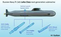 Mô hình lớp tàu ngầm Laika của hải quân Nga