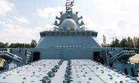 Các ống phóng trên tàu Gorshkov của hải quân Nga