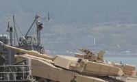 Xe tăng M1-Abrams của thủy quân lục chiến Mỹ