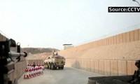 Lối vào căn cứ của hải quân Trung Quốc ở Djibouti rất vòng vèo (ảnh cắt từ video)