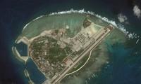 Đảo Phú Lâm thuộc quần đảo Hoàng Sa của Việt Nam đang bị Trung Quốc chiếm đóng trái phép. Anh chụp đầu năm 2018