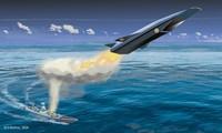 Bản vẽ mô tả cảnh tàu chiến Ấn Độ phóng tên lửa chống hạm siêu vượt âm
