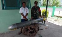Vật thể bí ẩn được ngư dân Indonesia tìm thấy ngày 2/12/2020.