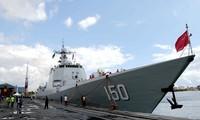 Một tàu chiến Trung Quốc tại cảng Dar es Salaam, thủ đô của Tanzania, ngày 16 tháng 8 năm 2017