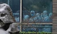 Các thành viên của nhóm WHO đến thăm Trung tâm Kiểm soát và Phòng ngừa Dịch bệnh Động vật Hồ Bắc ở Vũ Hán vào ngày 2/2