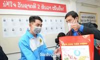 T.Ư Hội Sinh viên thăm và tặng quà lưu học sinh Lào nhân dịp Tết Tân Sửu 2021