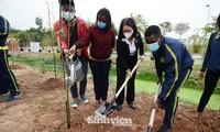 Sinh viên, giảng viên Học viện Nông nghiệp Việt Nam hưởng ứng trồng 5.000 cây xanh