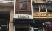 Cửa hàng Khaisilk ở Hà Nội bị kiểm tra