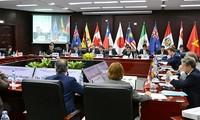 Cuộc họp giữa 11 nước tại Tokyo, Nhật Bản về CPTPP. Ảnh: TODAYonline.