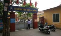 Trường tiểu học An Đông, Hải Phòng- nơi xảy ra vụ việc học sinh bị cô giáo phạt uống nước vắt từ giẻ lau bảng.