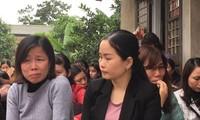 256 giáo viên Sóc Sơn lo lắng trước nguy cơ mất việc. Ảnh Nghiêm Huê