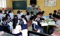 Học sịnh trong thư viện của trường Tiểu học Dương Liễu, Hà Nội. Ảnh: Đ.H