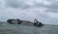 Tàu Nordana Sophie bất ngờ gặp sự cố và chìm trên biển Hà Tĩnh.