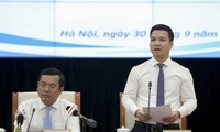 Ông Trần Quang Nam, Chánh Văn phòng Bộ GD&ĐT, thông tin tại buổi họp báo
