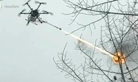 Flamethrower UAV made by China.  Photo: SCMP