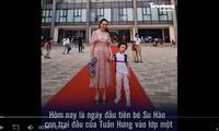 Con cưng nhà sao Việt nô nức tựu trường chào năm học mới