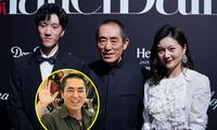 Đạo diễn Trương Nghệ Mưu hiếm hoi xuất hiện bên vợ kém 31 tuổi và con trai lớn