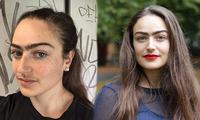 Cô gái người Đan Mạch để râu, không cạo lông mày vì lý do gây bất ngờ