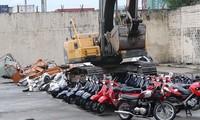 Tổng thổng Duterte ra lệnh phá hủy hàng trăm xe máy nhập lậu
