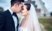 Hoa hậu Diễm Hương hé lộ ảnh cưới lãng mạn