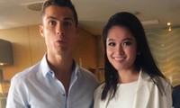 Á hậu Thuỳ Dung gặp gỡ Cristiano Ronaldo tại Châu Âu