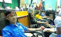 Ngọc Minh Hiếu sinh viên năm 2 ngành Đa khoa, ĐH Y Thái Bình tham gia hiến máu