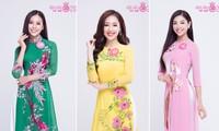 Thí sinh phía Bắc Hoa hậu Việt Nam quyến rũ với áo dài truyền thống