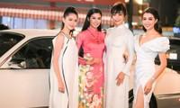 Dàn Á hậu lộng lẫy rủ nhau đi xem bộ sưu tập áo dài mới của Ngọc Hân
