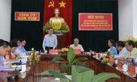 Đồng chí Trần Thanh Mẫn phát biểu tại buổi làm việc với Ban Thường vụ Tỉnh ủy Kon Tum. Ảnh: VGP/Bạch Dương