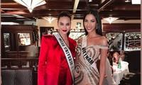 Màn đọ sắc fan mong chờ nhất: Hoàng Thuỳ quyến rũ bên Hoa hậu Catriona Gray