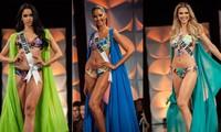 Màn diễn bikini 'rực lửa' của Hoàng Thuỳ và dàn thí sinh ở bán kết Miss Universe