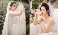 Á hậu Huyền My tung ảnh cưới đẹp như mơ dịp cuối năm khiến fans xôn xao