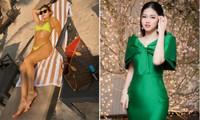 Minh Tú 'bỏng mắt' với bikini, Á hậu Thanh Tú thon thả sau khi sinh con