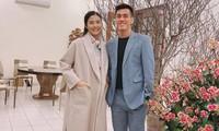 Hoa hậu Ngọc Hân khoe ảnh ăn tất niên cùng cầu thủ Tiến Linh khiến fan 'ghen tỵ'