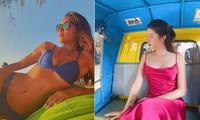 Minh Tú nóng 'bỏng mắt' với bikini, Huyền My gợi cảm trên đất Thái