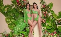 Á hậu Kiều Loan hoá nàng Xuân nóng bỏng với bikini hoạ tiết hoa cỏ