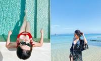 Á hậu Huyền My mặc bikini nóng bỏng ở Quy Nhơn