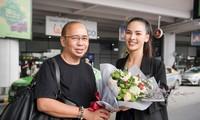 Quỳnh Nga ra sân bay đón chuyên gia Rodin B. Gilbert Flores sang Việt Nam.