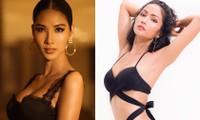 Hoàng Thuỳ khoe vòng 1 sexy, H'Hen Niê nóng 'bỏng mắt' với bikini bên bể bơi